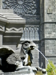 gryphon on fountain
