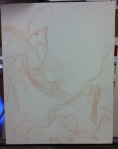 bird drawing transfer