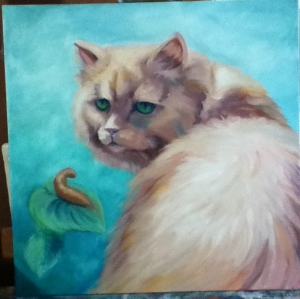 fat kitty painting in progress
