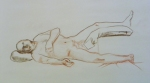 figure drawing male reclining