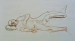 figure drawing male reclining