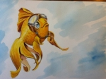 goldfish water color