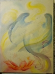 winged mermaid work in progress