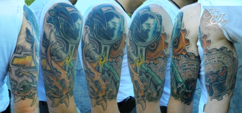memorial mechanical tattoo