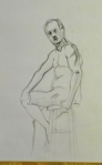 seated figure drawing male