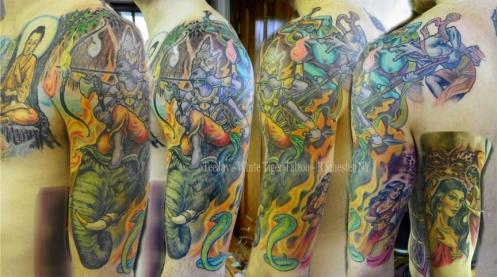 Buddha and Mara tattoo