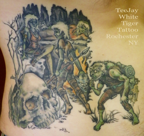 green guy in danger tattoo