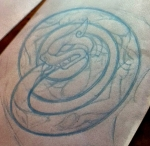 celtic ouroboros rough outline