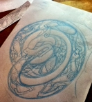 celtic ouroboros outline development