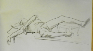 figure drawing reclining male