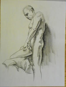 figure drawing male standing