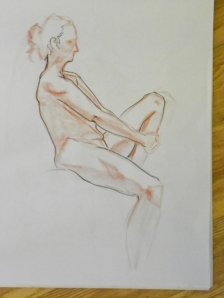 conte figure drawing