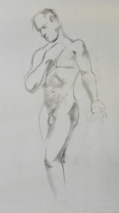 male figure standing nude
