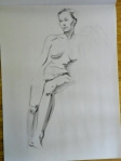 seated figure drawing female