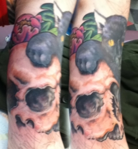 Holly's arm tattoo