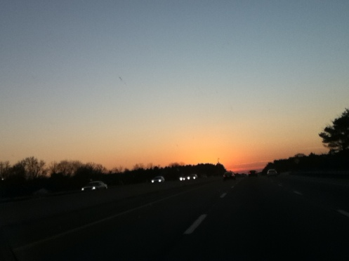 sunset over the Thruway