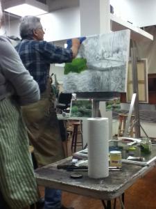 Steve Carpenter painting demo
