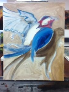 dead bird underpainting