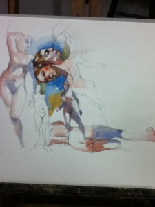 Steve Carpenter watercolor figure study
