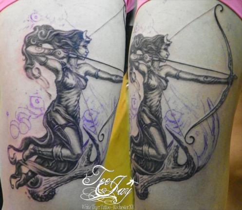 Goddess of the Hunt tattoo