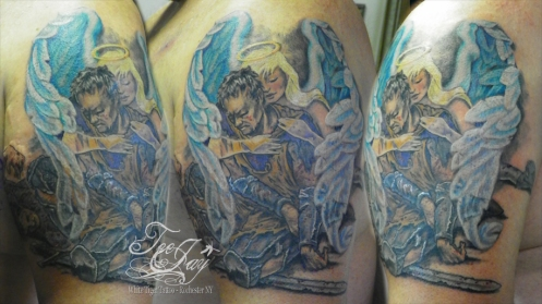 Guardian Angel, Fallen Knight tattoo