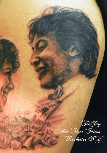 dad portrait tattoo