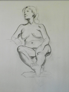 figure drawing female sitting