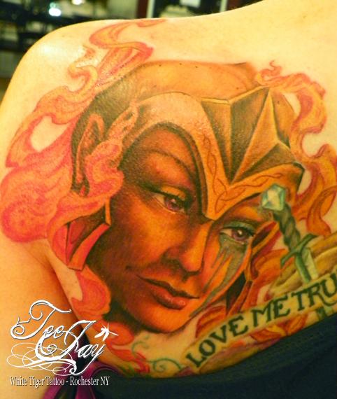 Fire Goddess tattoo