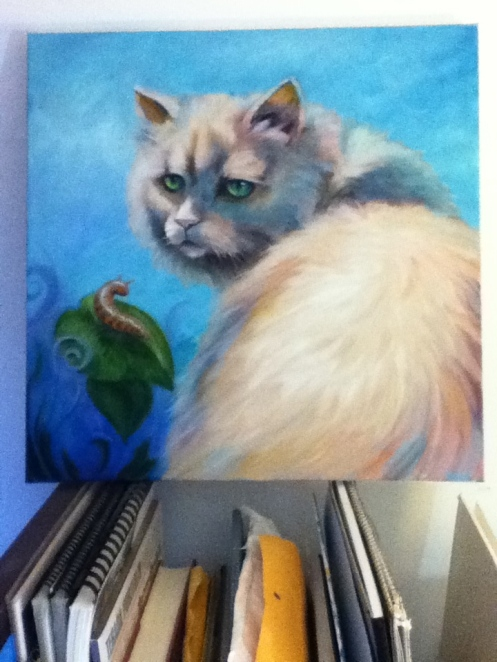 fat kitty painting