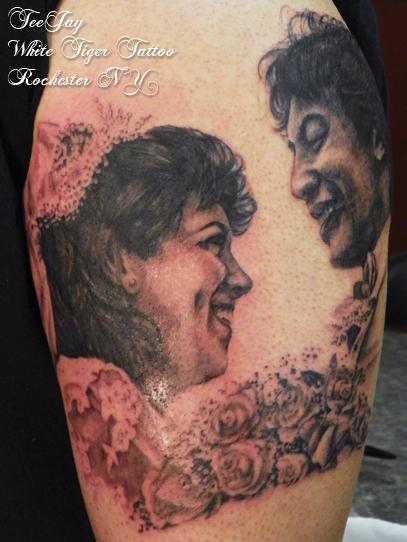 mom portrait tattoo