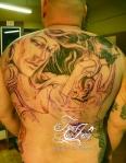 Pandora Back tattoo first session