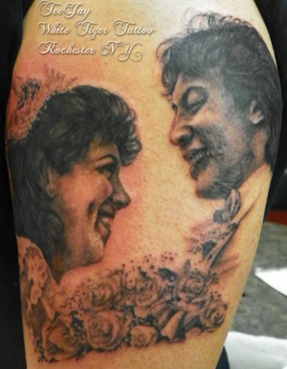 parents portrait tattoo