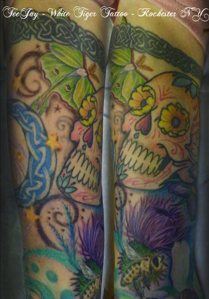 Sarah's upper arm tattoo
