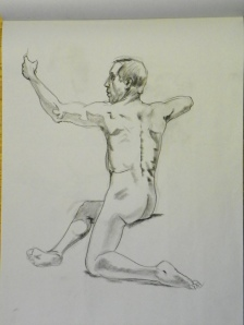 figure drawing male back