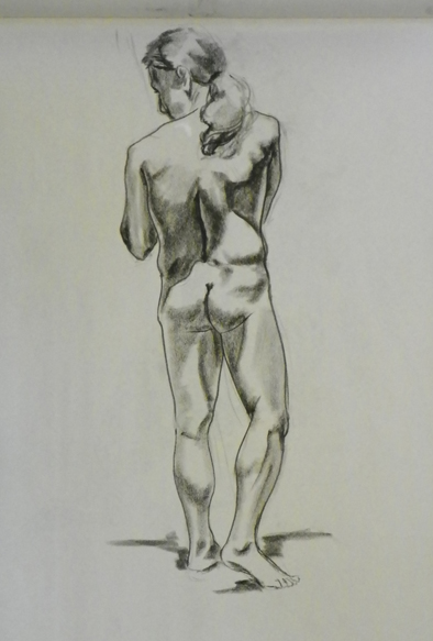 figure drawing male standing back