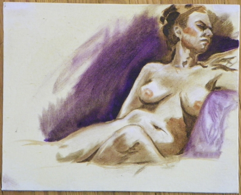 oil sketch figure drawing