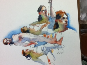 water color figure drawing