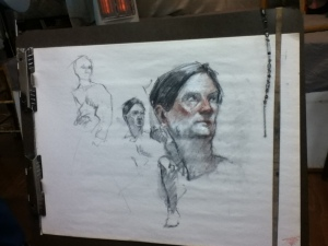 portrait drawing from life