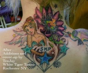 Amanda's tattoo after
