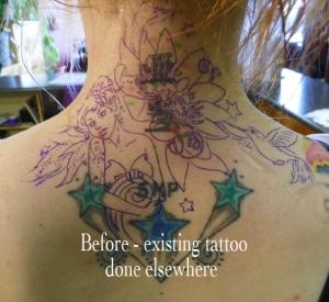 Amanda's tattoo before