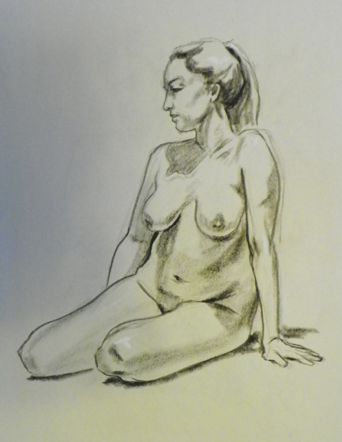 female figure sitting