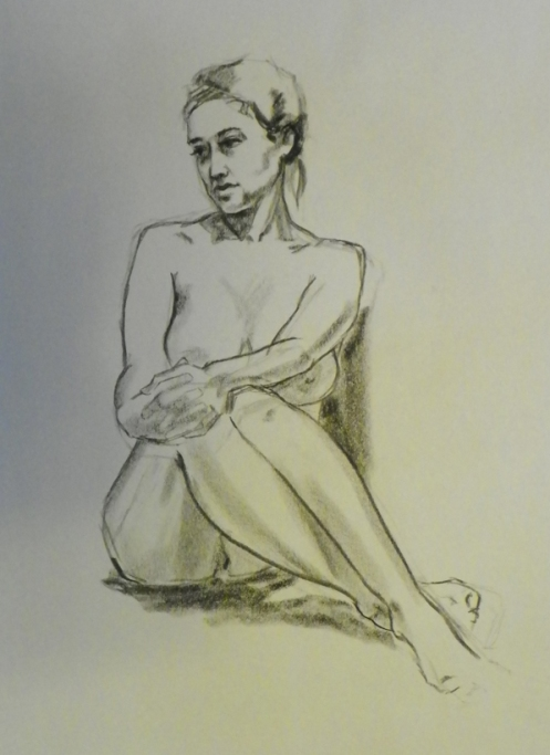 figure drawing female sitting down