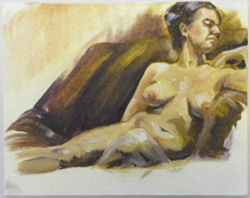 figure painting female reclining