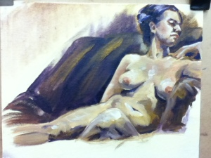 oil painting figure