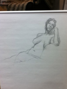 pencil sketch figure