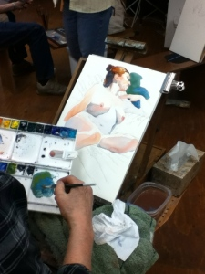 figure painting watercolor Steve Carpenter