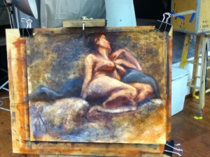 figure painting oil female