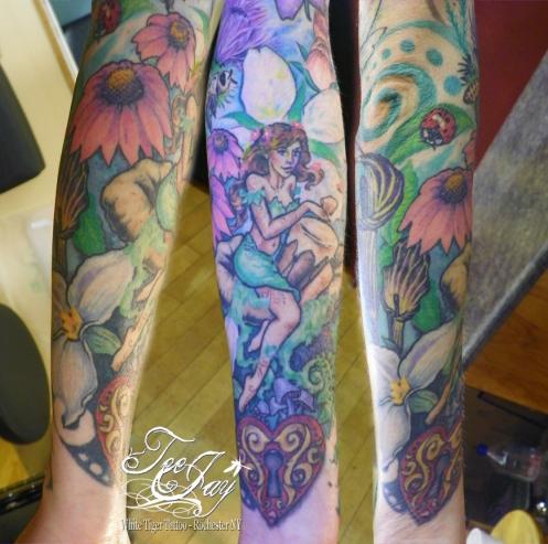 girlie sleeve tattoo