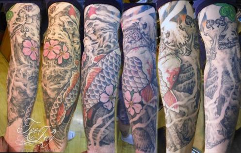 koi,skulls,cards,pigs,tattoo