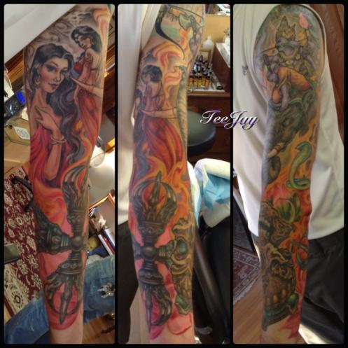 Mara sleeve tattoo